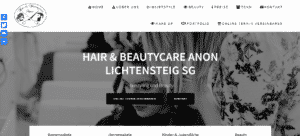 Webseite Hair and Beautycare Anon - Developful
